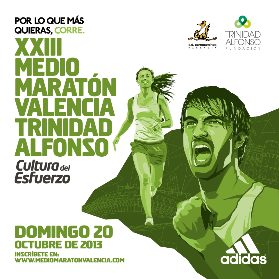 Cartel Media Maratón Valencia