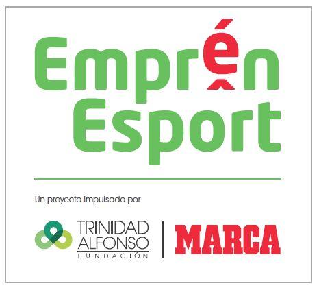 Logotipo Emprén Esport, impulsado por Marca y la Fundación Trinidad Alfonso